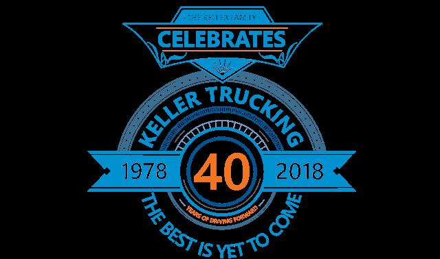 Keller Trucking 40th Anniversary Logo