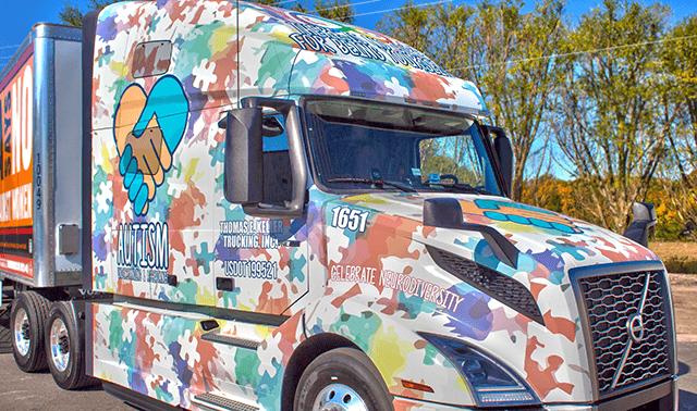 Autism Awareness Tractor Wrap Benefiting Autism Charities in Defiance Ohio