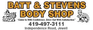 Batt & Stevens Body Shop Logo