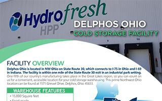 Hydrofresh HPP Cold Storage Facility Flyer Delphos Ohio