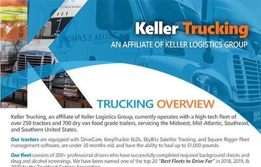 Keller Trucking Overview Flyer 8-2020
