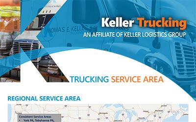 Keller Trucking Service Area Map 8-2020