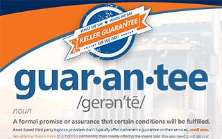 Keller Logistics Group Performance Guarantee Flyer