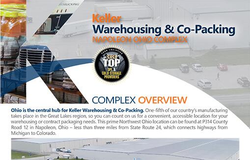 Napoleon Logistics Complex Flyer Keller Warehousing & Co-Packing