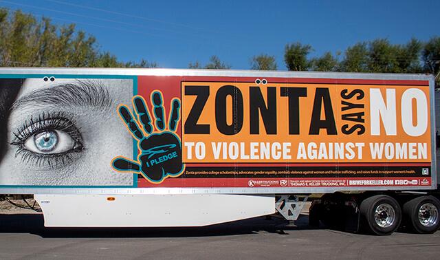 Zonta Says No - Wrapped Trailer